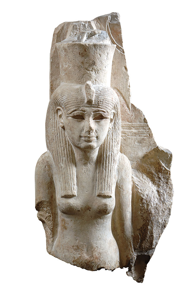Statue of the Goddess Mut, New Kingdom, early 19th dynasty (ca. 1292 - 1250 B.C.E.), Limestone,Cat. 769, Museo Egizio, Turin, Italy